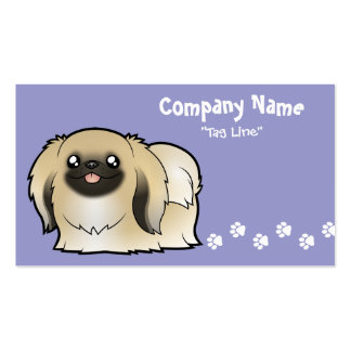 Cartoon Pekeingese (show cut) Pack Of Standard Business Cards
