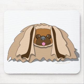 Cartoon Pekingese Dog Mouse Pad