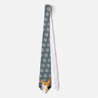 Cartoon Pembroke Welsh Corgi Tie