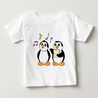Cartoon Penguins Singing Baby T-Shirt