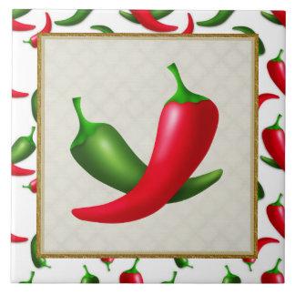 Cartoon Peppers fun kitchen tile