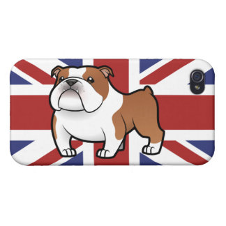 Cartoon Pet with Flag iPhone 4 Cases