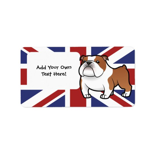 Cartoon Pet with Flag Label