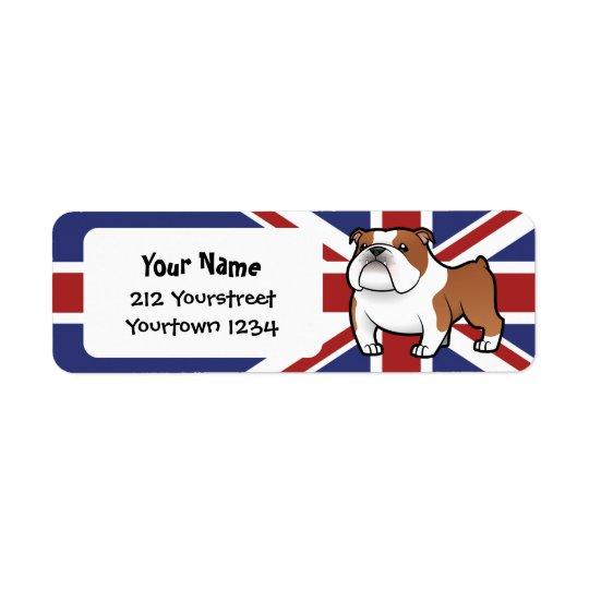 Cartoon Pet with Flag Return Address Label