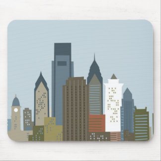 Cartoon Philadelphia Mouse Pad