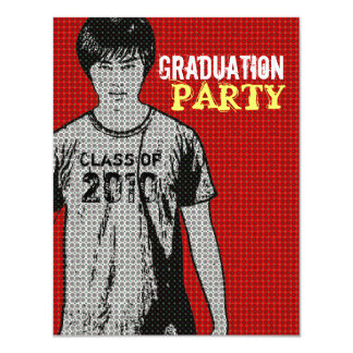Cartoon Photo Insert 4 Graduation Party Invitation
