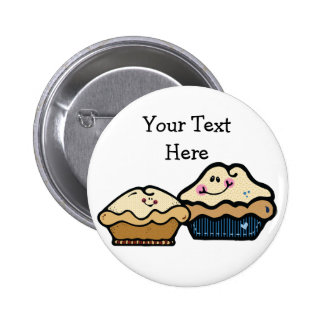 Cartoon Pies for Pie Day January 23rd 6 Cm Round Badge