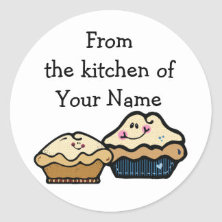 Cartoon Pies for Pie Day January 23rd Classic Round Sticker