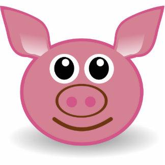 Cartoon Pig Face Standing Photo Sculpture