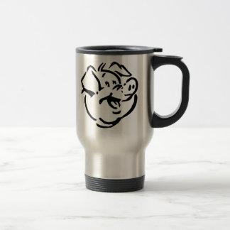 Cartoon Pig Coffee Mugs