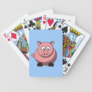 Cartoon Pig Playing Cards