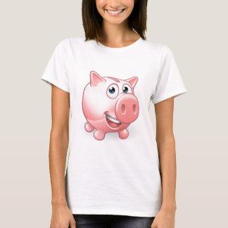 Cartoon Piggy Bank T-Shirt