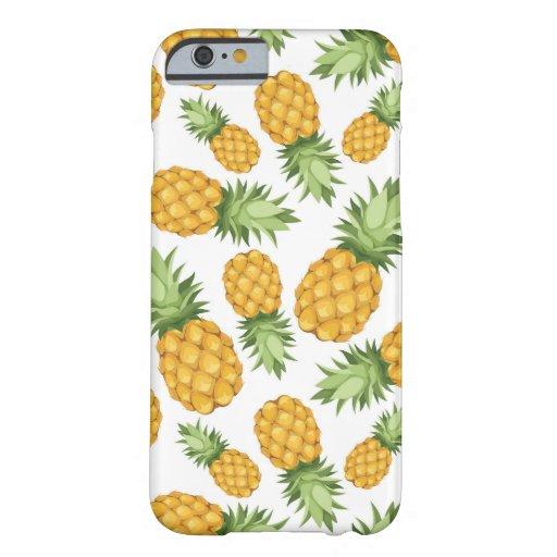 Cartoon Pineapple Pattern iPhone 6 Case