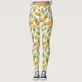 Cartoon Pineapple Pattern Leggings