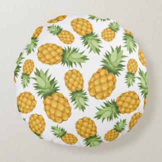 Cartoon Pineapple Pattern Round Pillow