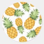 Cartoon Pineapple Pattern Sticker