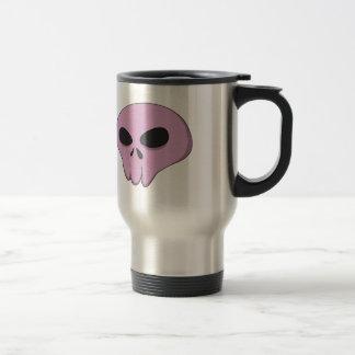 cartoon pink skull stainless steel travel mug