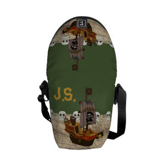 Cartoon Pirate Ship Personalize Commuter Bags