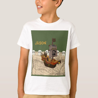 Cartoon Pirate Ship Personalize T-shirts