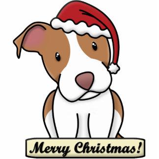 Cartoon Pit Bull Christmas Ornament Photo Sculpture Decoration