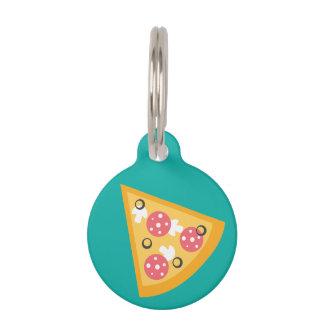 Cartoon Pizza Slice Pet Name Tags