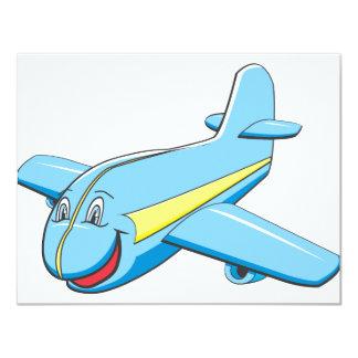 Cartoon plane 11 cm x 14 cm invitation card