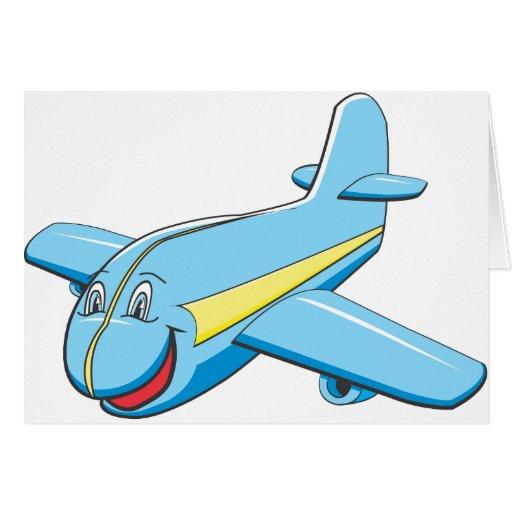 Cartoon plane greeting cards