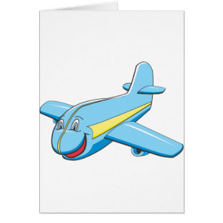 Cartoon plane greeting cards