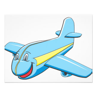 Cartoon plane personalized invite