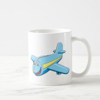 Cartoon plane coffee mug
