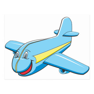 Cartoon plane postcard