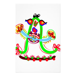 Cartoon Play with Alphabet A Personalised Stationery