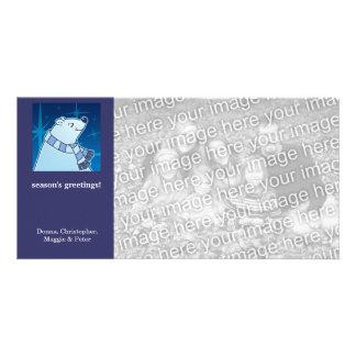 Cartoon Polar Bear Holiday Card