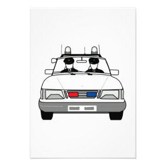 Cartoon Police Car Custom Announcement