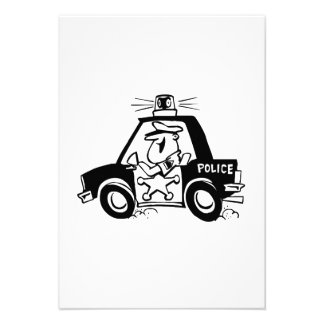 Cartoon Police Car Personalized Announcement