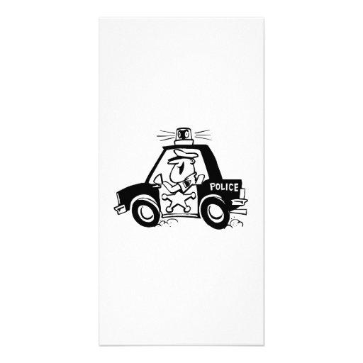 Cartoon Police Car Picture Card
