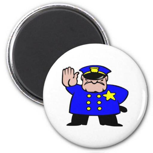 Cartoon Police Officer Fridge Magnets
