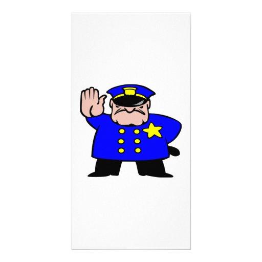 Cartoon Police Officer Custom Photo Card