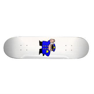 Cartoon Police Officer Skate Board
