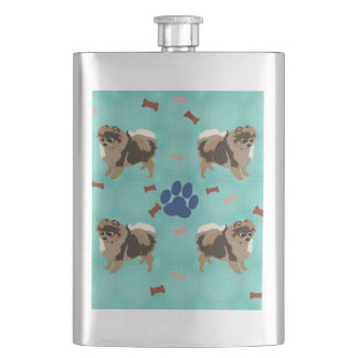 Cartoon Pomeranian Flasks