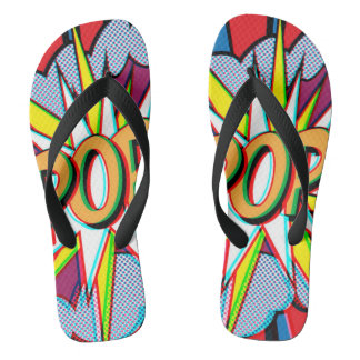 cartoon pop art unisex flip flops