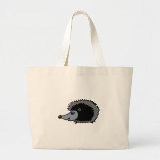 Cartoon Porcupine Large Tote Bag