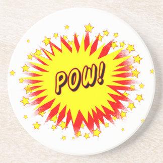 Cartoon Pow Coaster