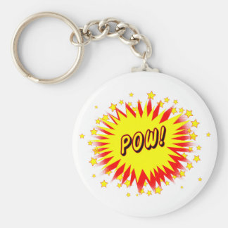 Cartoon Pow Key Ring