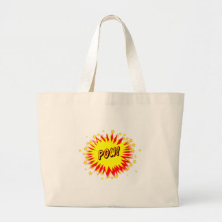 Cartoon Pow Large Tote Bag