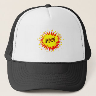 Cartoon Pow Trucker Hat