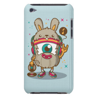 CARTOON PSYCHEDELIC HAMSTER RABBIT DJ with Vinyl iPod Touch Covers