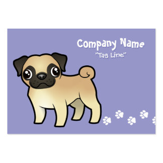 Cartoon Pug Pack Of Chubby Business Cards
