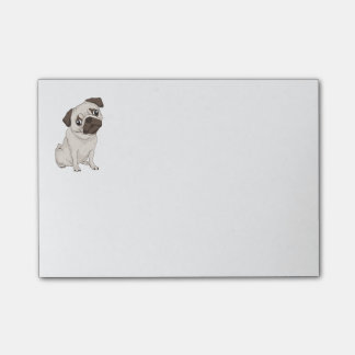 Cartoon Pug Puppy Dog Post IT Sticky Notes Post-it® Notes
