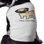 Cartoon Pug Sleeveless Dog Shirt
